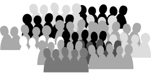for site Crowd silhouette from pixabay